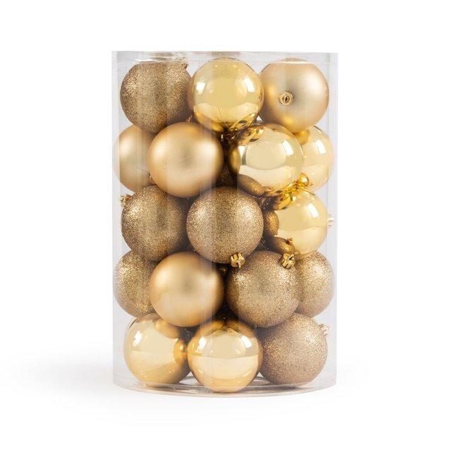 Κουτί με 34 χριστουγεννιάτικες χρυσαφί μπάλες, Caspar