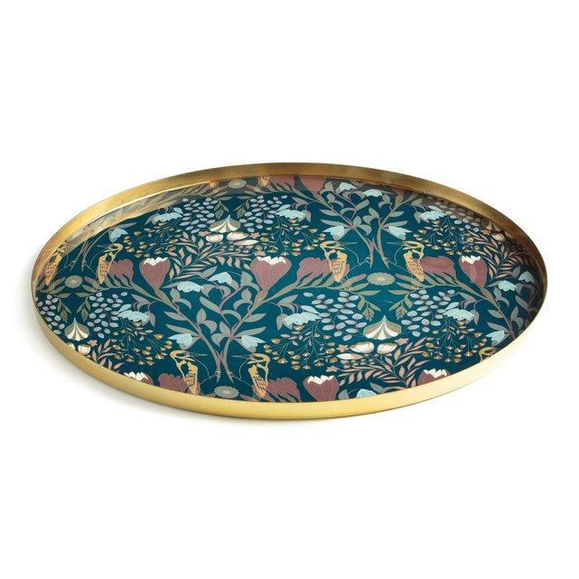 Μεταλλικός χρυσαφί στρογγυλός δίσκος, Louisa