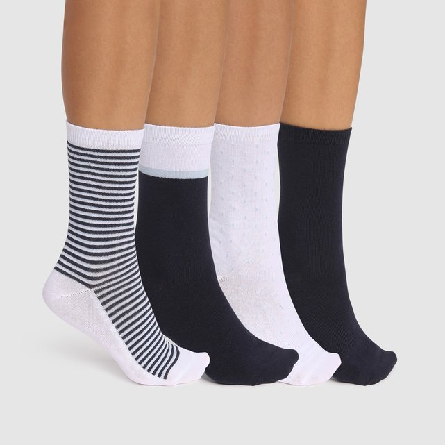 Σετ 4 ζευγάρια μίντι κάλτσες