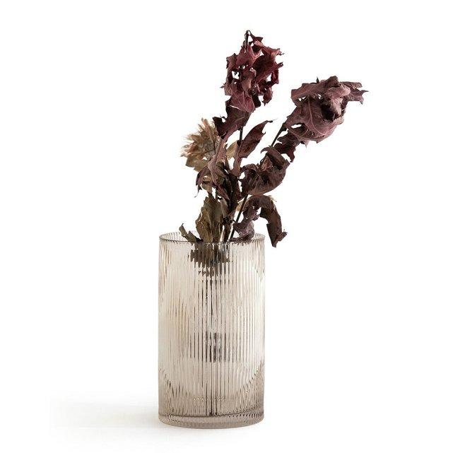 Ίσιο βάζο από γυαλί με ραβδώσεις, Afa