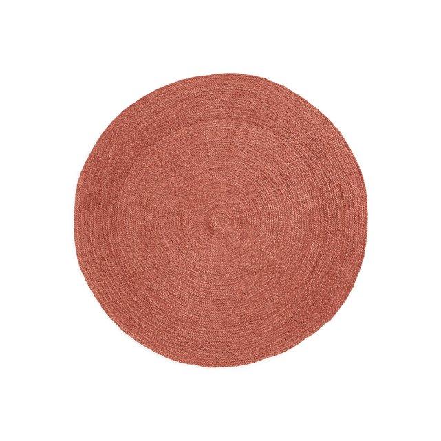 Χρωματιστό στρογγυλό χαλί από γιούτα Δ160 εκ., Bissaka