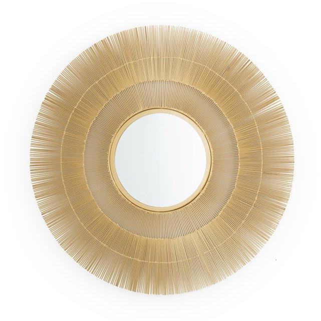Μεταλλικός καθρέφτης σε σχήμα ήλιου Δ80 εκ., Langa