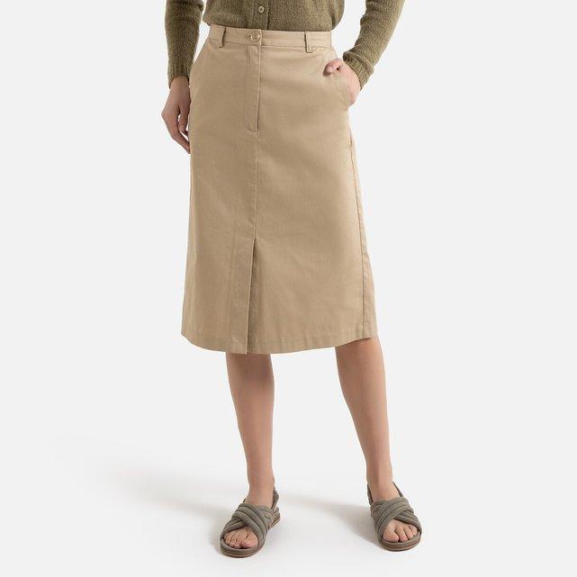 Ίσια φούστα με μήκος μέχρι τα γόνατα
