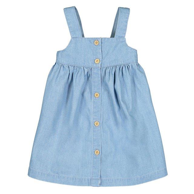 Τζιν φόρεμα με τιράντες, 1 μηνός-4 ετών
