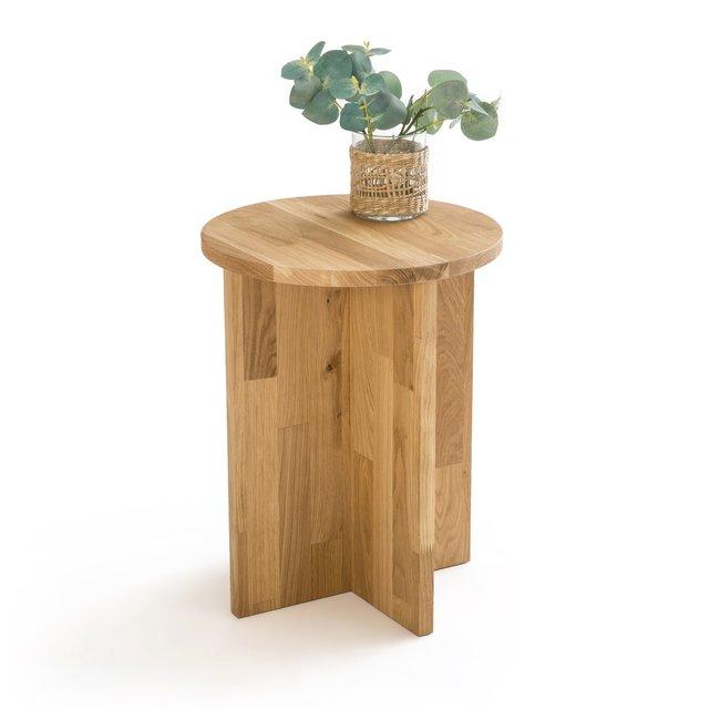Βοηθητικό τραπεζάκι από μασίφ ξύλο δρυ, Obadi