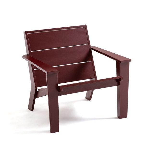 Πολυθρόνα τύπου Adirondack από ξύλο ακακίας με ελαιόχρωμα, Rephir