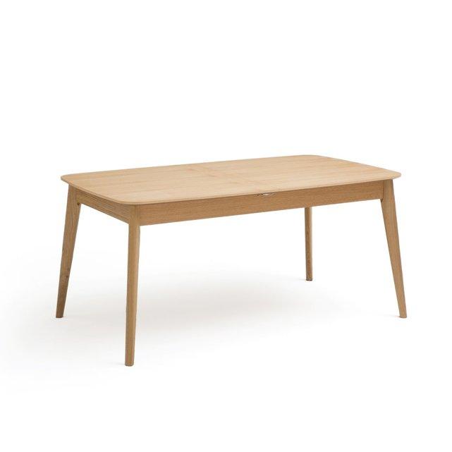 Επεκτάσιμο τραπέζι φαγητού από ξύλο δρυ 4 8 ατόμων, Biface