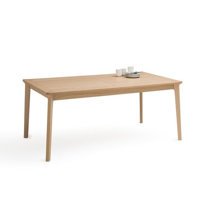 Επεκτάσιμο τραπέζι φαγητού από ξύλο δρυ 6 10 ατόμων, Pully