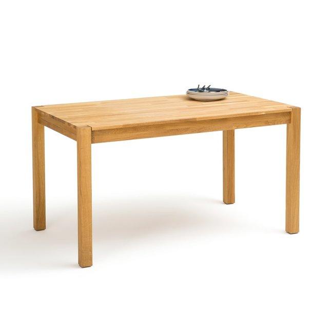 Τραπέζι φαγητού 4 ατόμων από μασίφ ξύλο δρυ, Adelita
