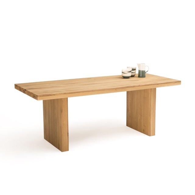 Τραπέζι φαγητού 6 8 ατόμων από μασίφ ξύλο δρυ, Vova