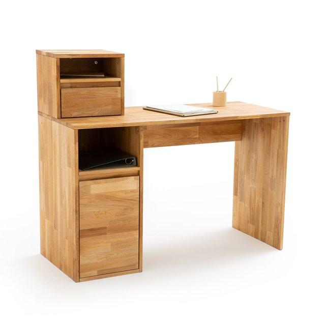 Γραφείο από μασίφ ξύλο δρυ, Edgar