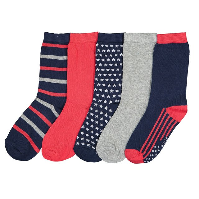 Σετ 5 ζευγάρια κάλτσες, 23 26-39 42