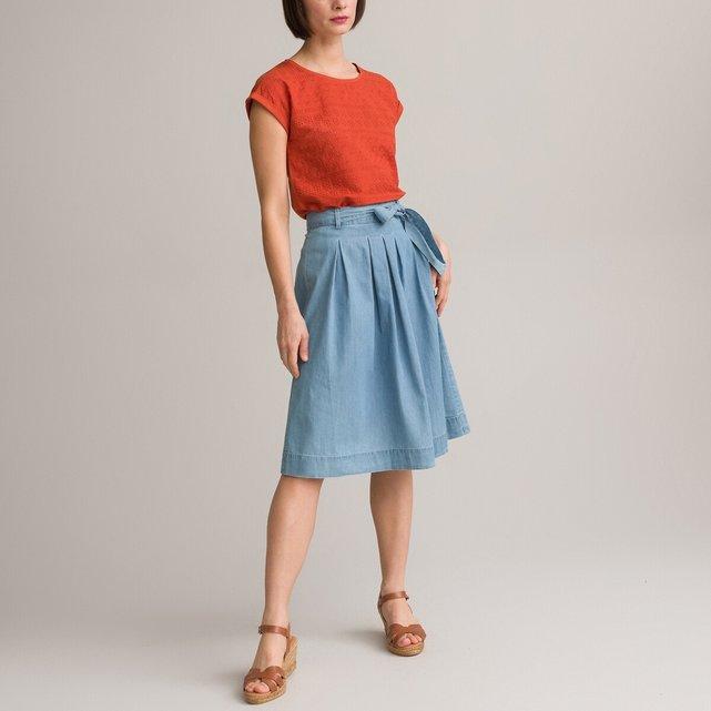 Εβαζέ φούστα από ελαφρύ ντένιμ
