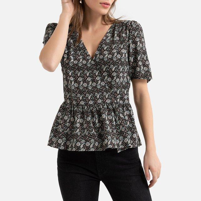 Κρουαζέ μπλούζα με μπάσκα