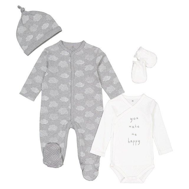 Σύνολο για νεογέννητα από βαμβάκι, πρόωρο-12 μηνών