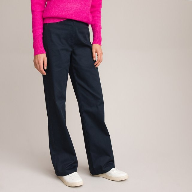 Φαρδύ παντελόνι από βαμβακερό σατέν