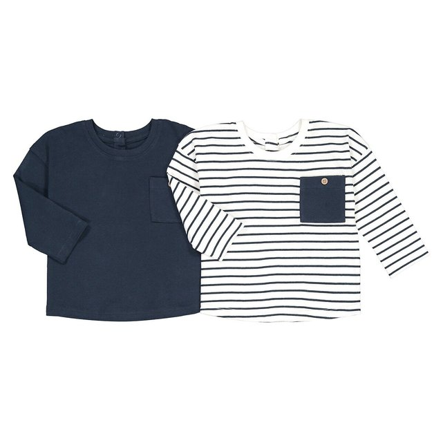 Σετ 2 μακρυμάνικες μπλούζες, 1 μηνός-4 ετών