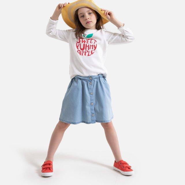 Κοντή φούστα από ελαφρύ ντένιμ, 3 - 12 ετών