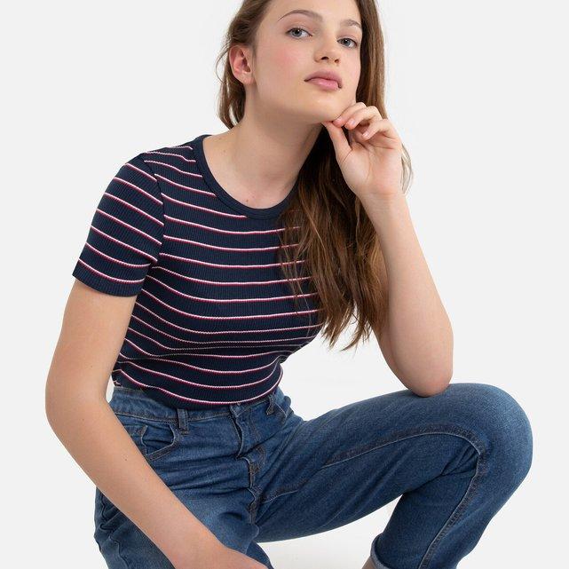 Ριγέ ριμπ T-shirt, 10-18 ετών