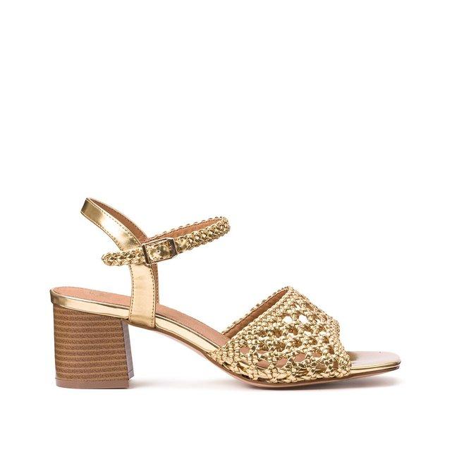 Sandales tressιes talon large