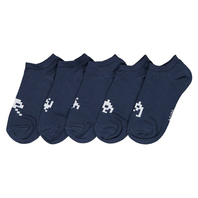 Pack of 5 Pairs of Cotton Mix Trainer Socks