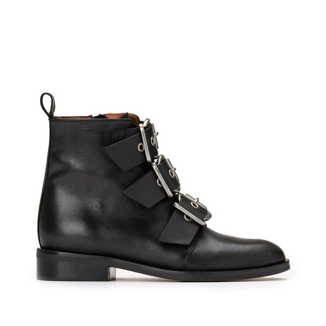Boots cuir ΰ boucles Dirce