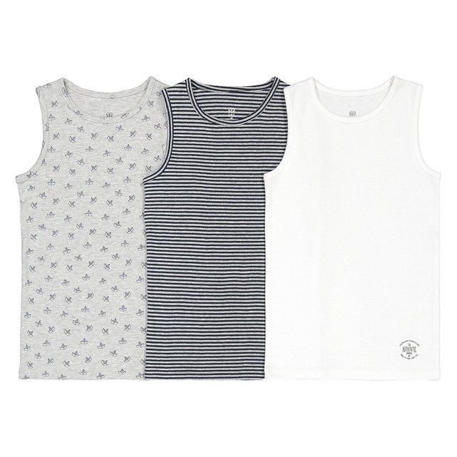 Σετ 3 ριμπ αμάνικα μπλουζάκια, 2-12 ετών