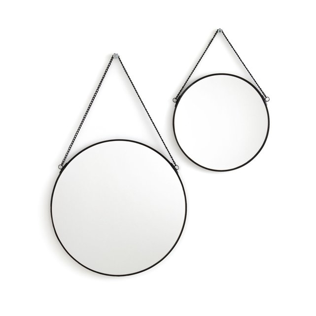 Σετ 2 στρογγυλοί καθρέφτες από μπρούντζο, Uyova