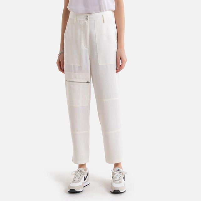 Μιλιτέρ παντελόνι με χνουδωτή υφή από lyocell