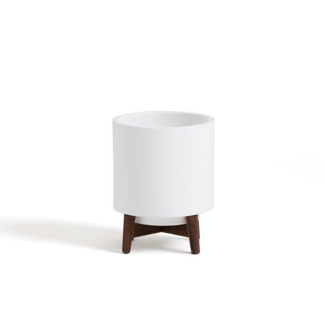 Κασπό με πόδι από ξύλο καουτσούκ Υ32,5 εκ., Florian