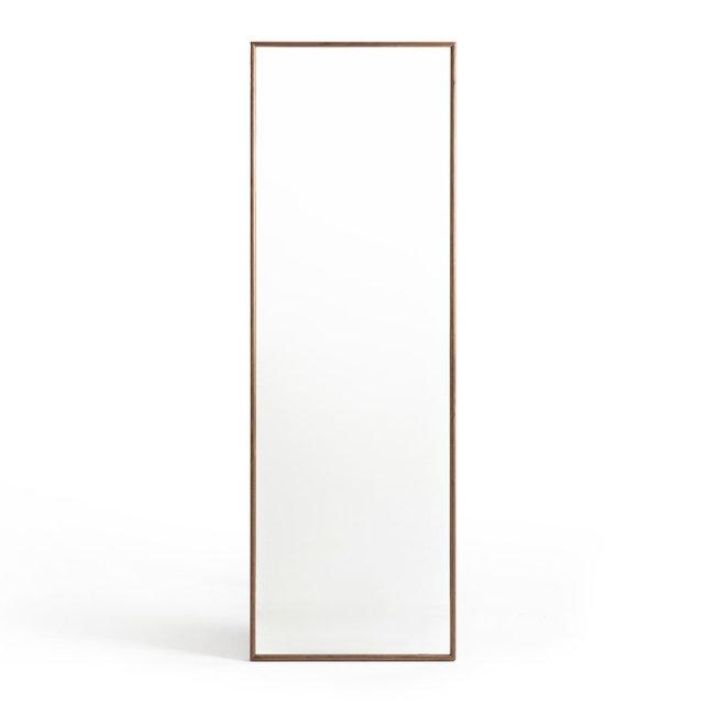 Καθρέφτης από μασίφ ξύλο καρυδιάς με κρεμάστρα, Zindlo