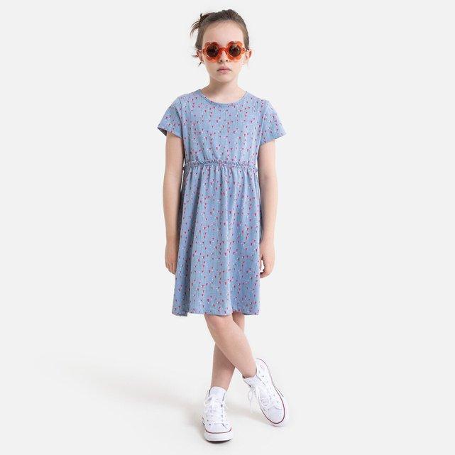 Κοντομάνικο εμπριμέ φόρεμα, 3-12 ετών