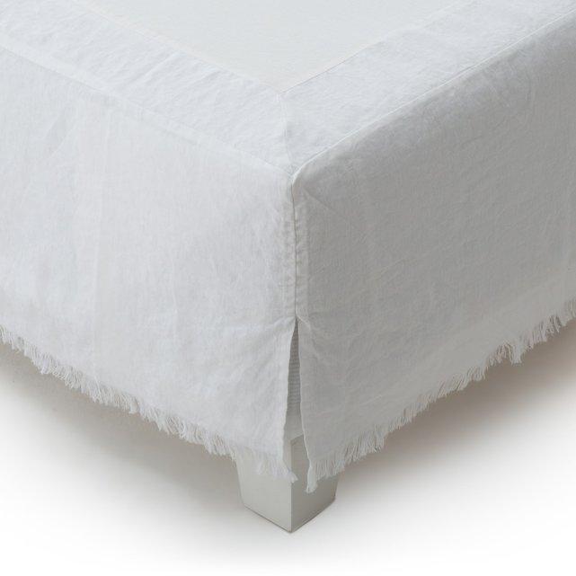 Κάλυμμα βάσης κρεβατιού από προπλυμένο λινό, Amourya