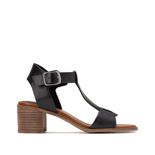 Sandales cuir ΰ talon Valmons
