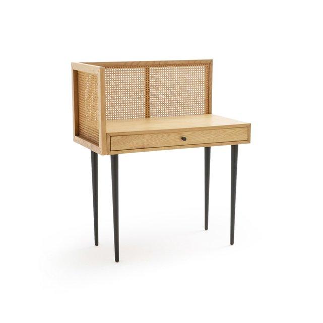 Γραφείο από ξύλο δρυ και ψάθα, Waska