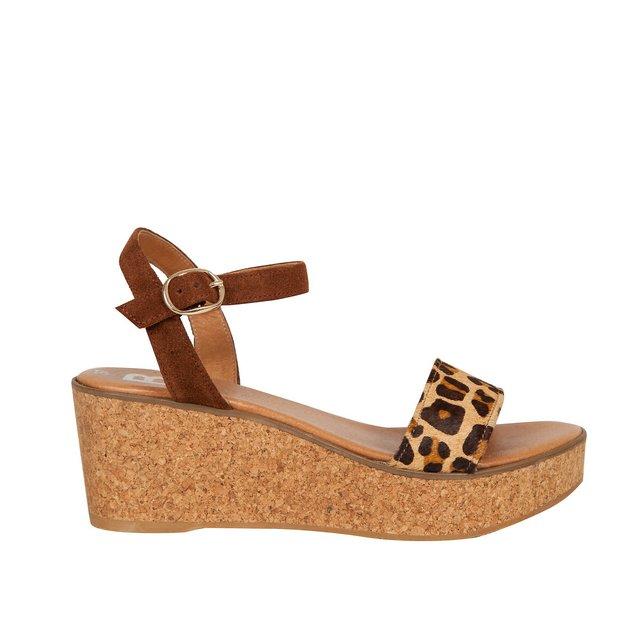 Zanzibar Leather Wedge Sandals