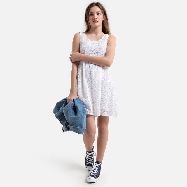 Αμάνικο φόρεμα από δαντέλα, 10-16 ετών