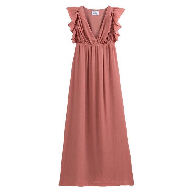 Μάξι αμάνικο φόρεμα