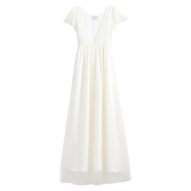 Kοντομάνικο νυφικό φόρεμα