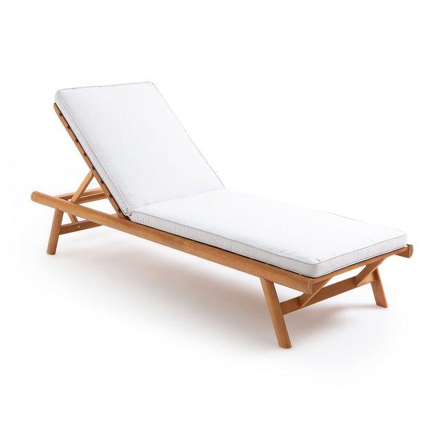 Ξαπλώστρα από ξύλο ευκαλύπτου FSC με στρώμα, Ufni