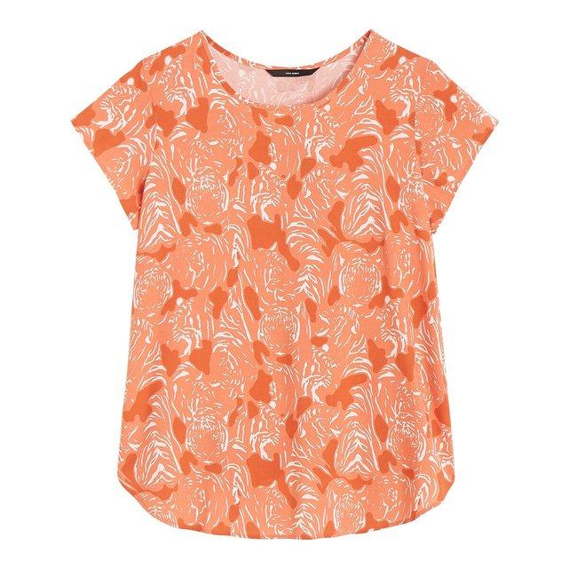 Κοντομάνικη μπλούζα με τύπωμα τίγρεις