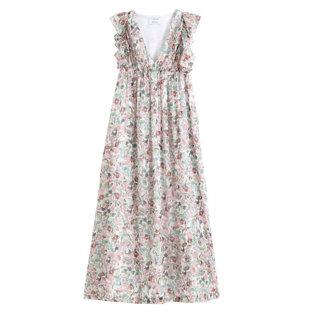 Αμάνικο μακρύ εμπριμέ φόρεμα