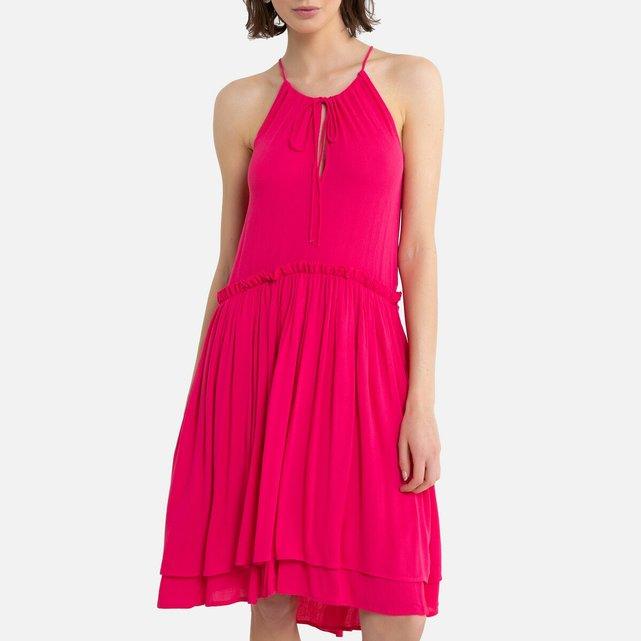 Κοντό φόρεμα με λεπτές τιράντες