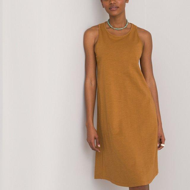 Ριχτό αμάνικο φόρεμα