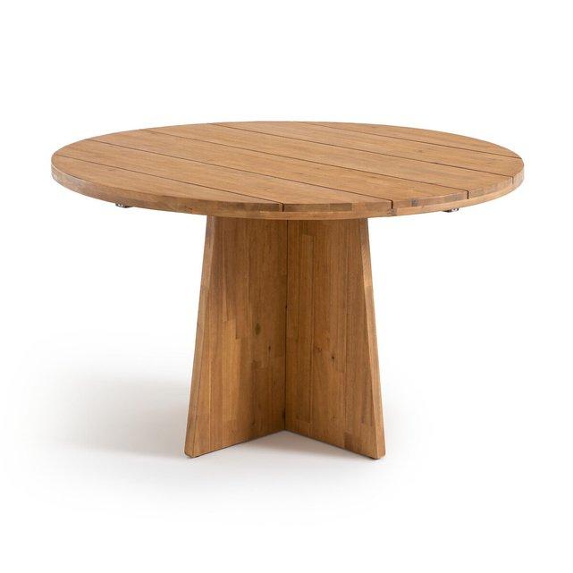 Στρογγυλό τραπέζι κήπου από ξύλο ακακίας FSC, Ajowan
