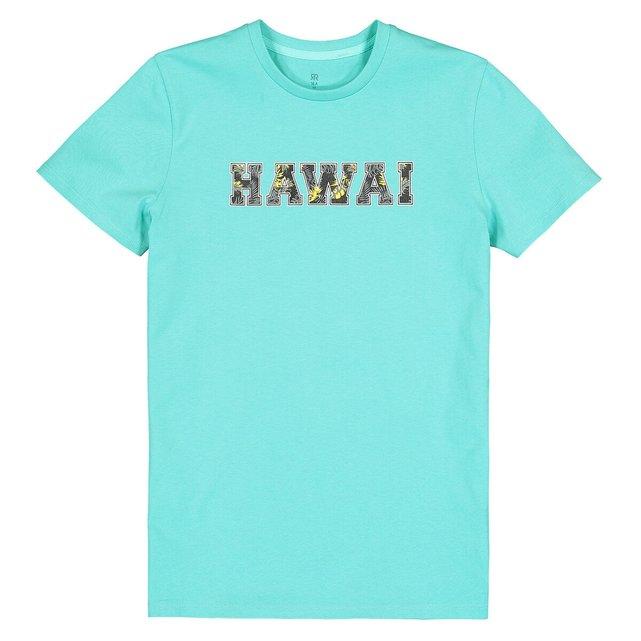 T-shirt με στρογγυλή λαιμόκοψη και στάμπα μπροστά, 10-16 ετών
