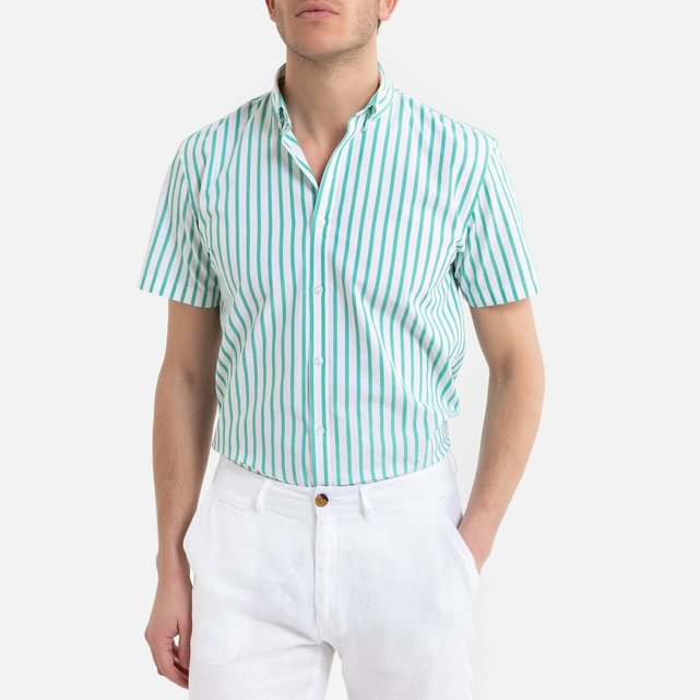 Ριγέ κοντομάνικο πουκάμισο