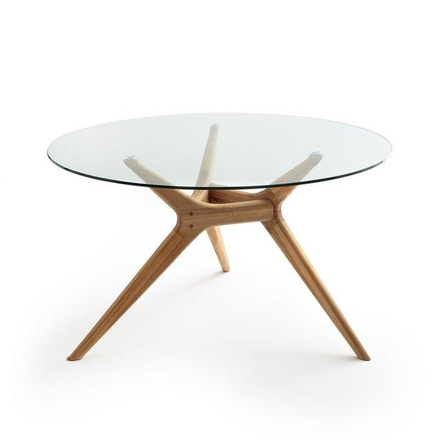 Στρογγυλό τραπέζι από γυαλίξύλο, Maricielo