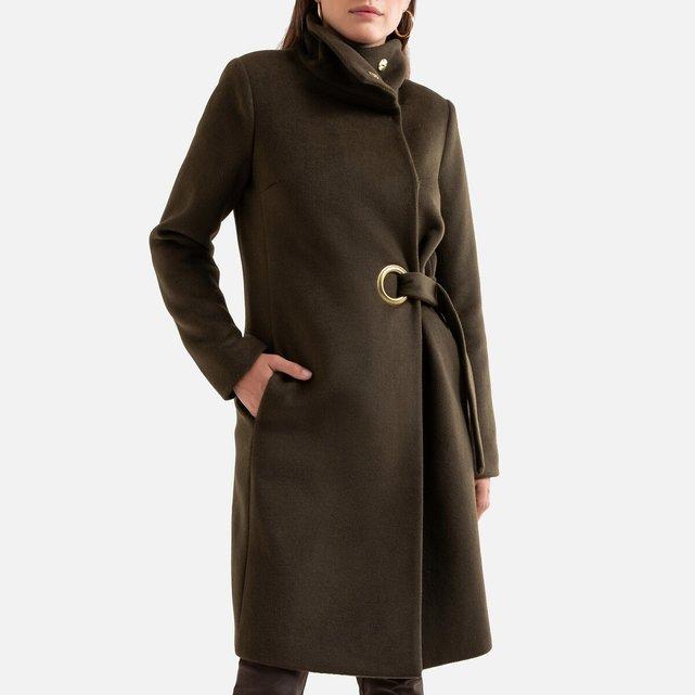 Παλτό με ψηλό γιακά