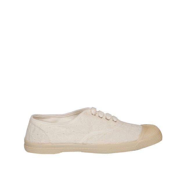 Πάνινα παπούτσια με κοφτό κέντημα